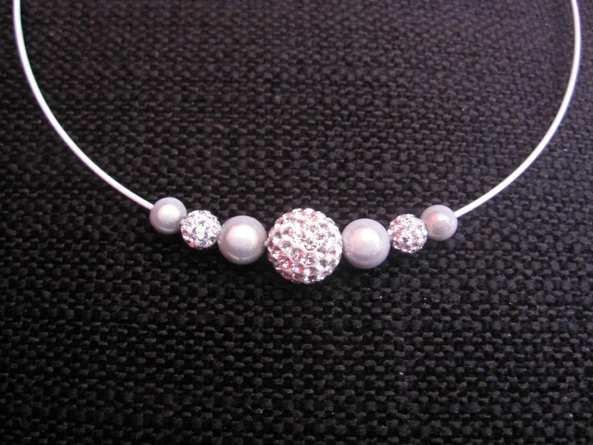 collier perle et strass