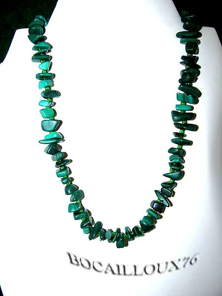 COLLIER MALACHITE 9 - FERMOIR MAGNETIQUE