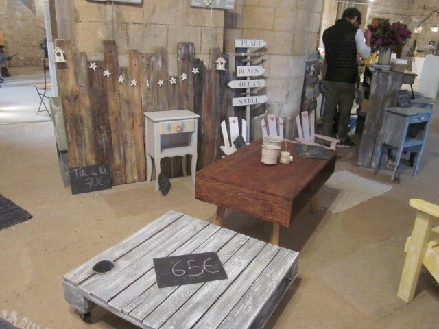 2016 - mai - du 14 au 16 - Salon RE-CREATION de Touques - Stand Wood'récup (1)