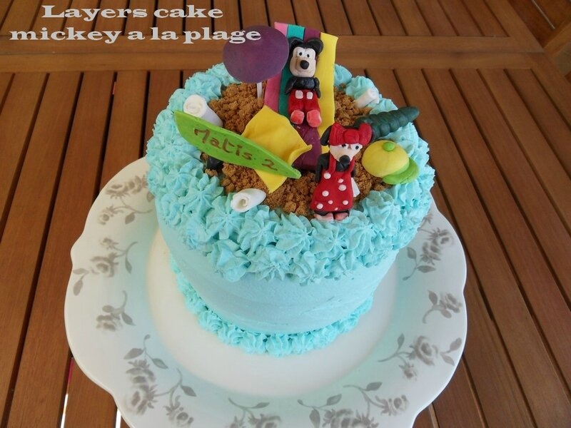 layers cake mickeey a la plage
