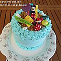 Layers cake mickey a la plage