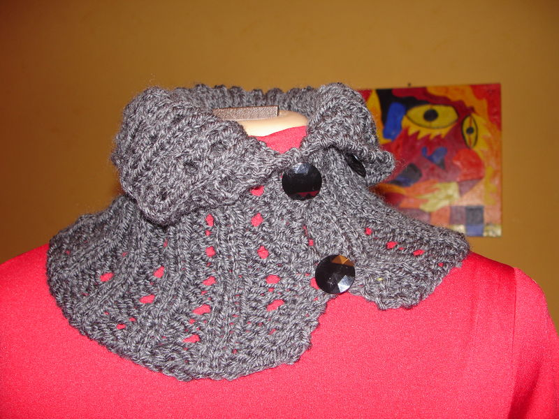 chunky button up neck warmer