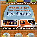 Des trains à coller