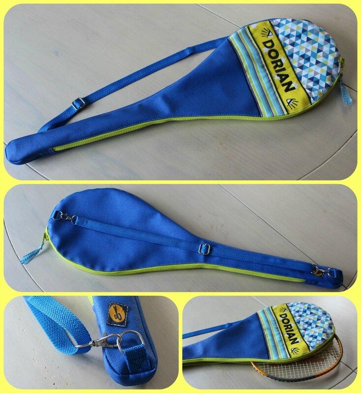Housse de raquette de badminton personnalisée DORIAN collage