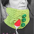 Snood au crochet Radis