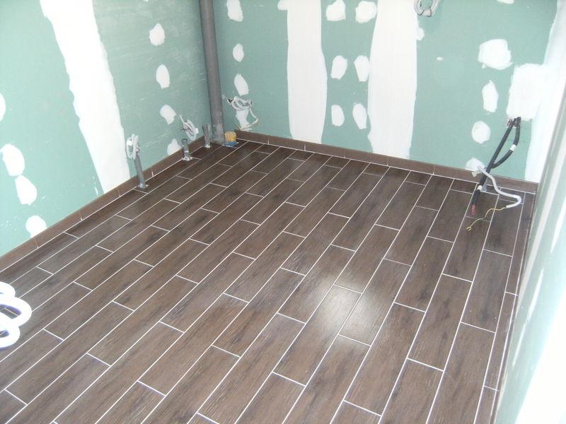 salle de bains carrelle - la construction de notre maison par ... - Carreler Salle De Bain