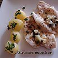 Filets de limande au citron et câpres