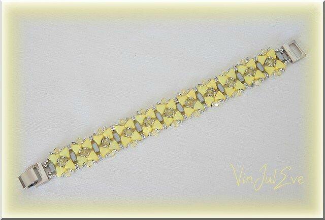 bracelet Kelso jaune argent