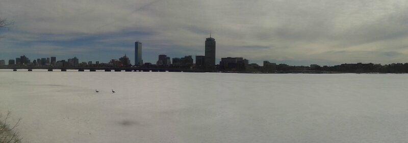 Panorama de Boston et de la Charles River