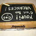 Gâteau ardoise d'écolier , vue de dos