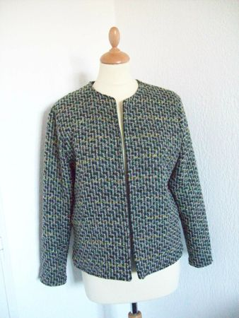 burda modle veste boite tweed1