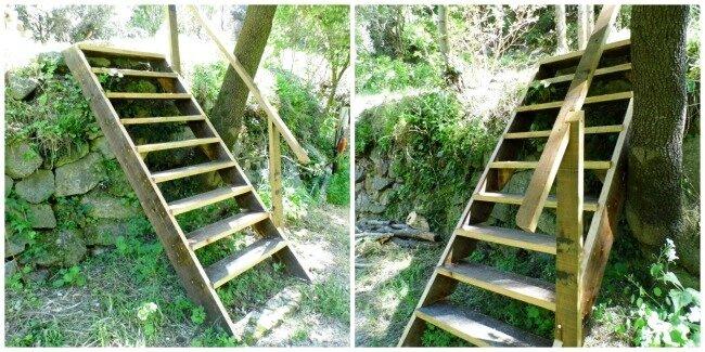 escaliers châlet