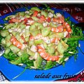 SALADE COMPOSEE AUX FRUITS DE MER