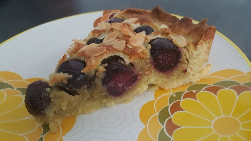 tarte pistachine aux cerises