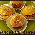 Mini burger sucré