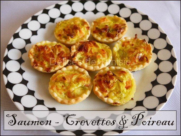 mini tartelettes saumon - crevettes 1