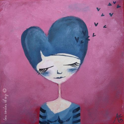 La dame de coeur 20x20