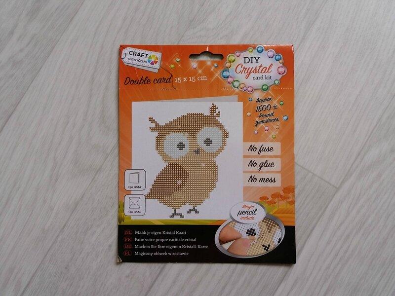 Hibou cristal kit offert par Emilie pour Valentin