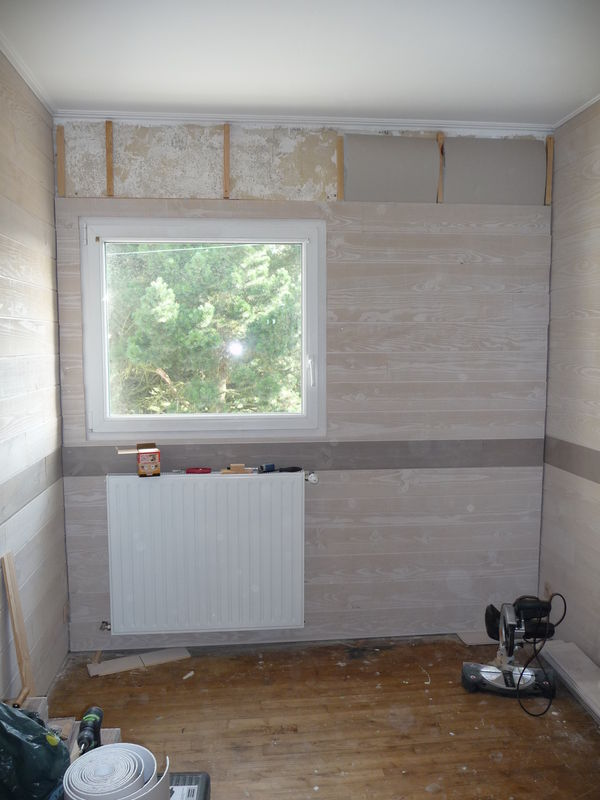 Chambre suite et presque fin les travaux de la maison for Peinture pour lambris
