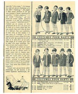 Mode enfantine 1930 vintage