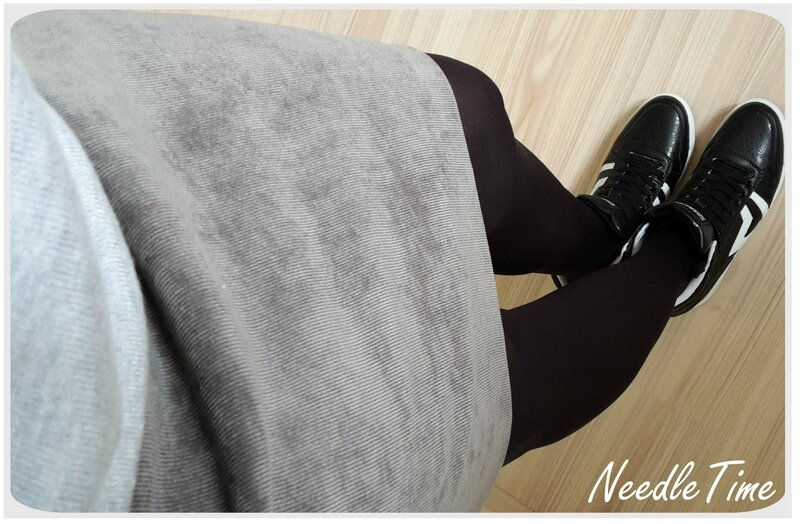 Jupe velours gris - Simplicity #3