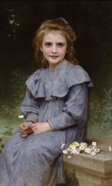 fillette_aux_paquerettes_william_Adolphe_Bouguereau