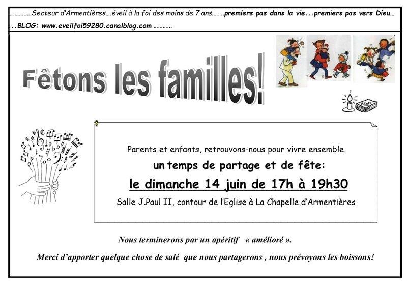 INVITATION EVF fête des Familles 2015