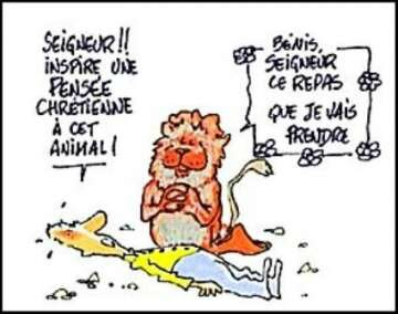humour dieu lion messe