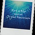 Rock in blue pour un jo-yeux anniversaire