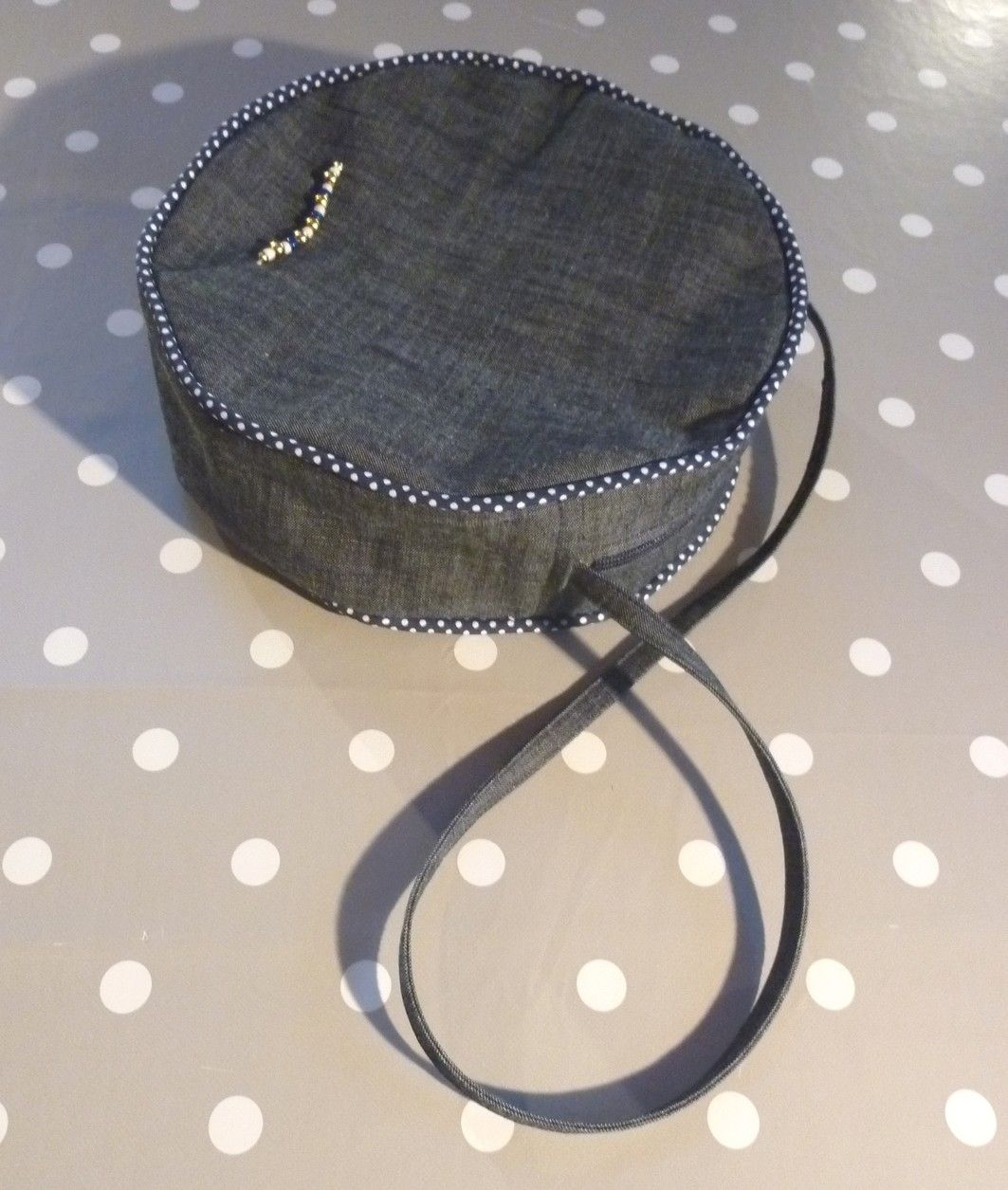 Sac rond jeans