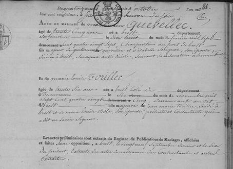 mariage 14 octobre 1822 à Brest_1