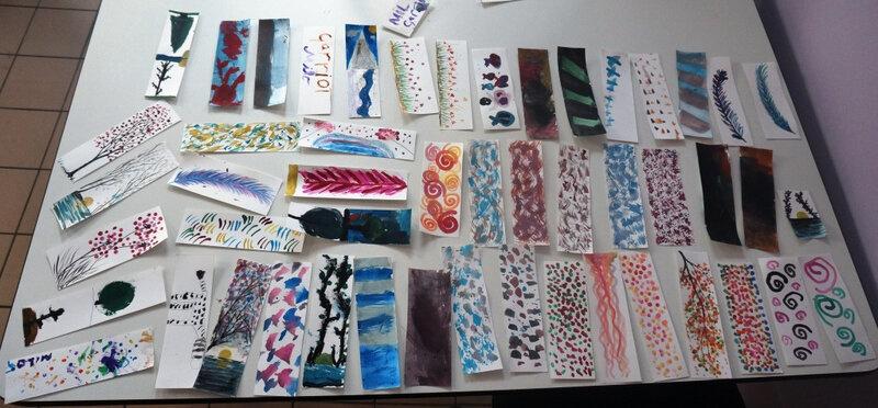marque-pages en aquarelle
