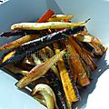 Légumes d'automne rôtis et légèrement caramélisés au four