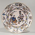 Polychrome and gilded chinoiserie charger. Delft, circa 1680-85. Marked for Jacob Wemmersz