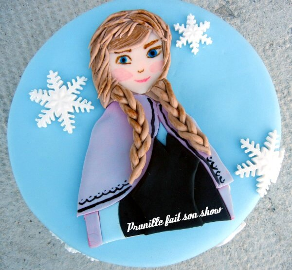 Gateau reine des neiges , Anna .
