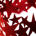 Red star paper chain