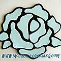 sous-verres rose bleu pastel