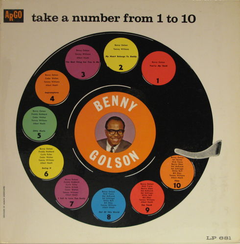 Benny Golson - 1961 - Take a number from 1 to 10 (Argo)