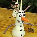 Cakes pops olaf