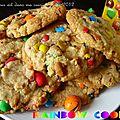 Rainbow cookies : des cookies aux m&m's