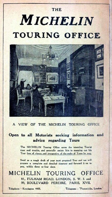The Michelin touring office