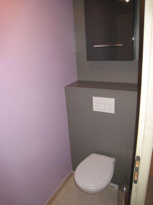 WC - Parme et gris galet