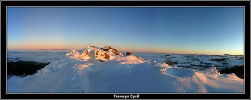 2008 12 24 Panorama depuis le sommet du Pic du Lizieux au soleil couchant à 16h56