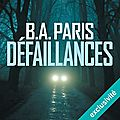 Défaillances, de b.a. paris