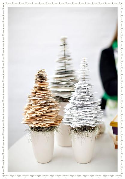 Sapins de Noël en papier