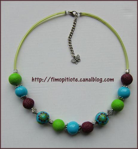 Bijoux pate fimo collier bracelet boucles d oreilles (25)