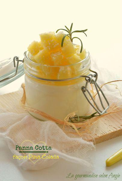 panna cotta pina colada ananas rhum agar agar mascarpone