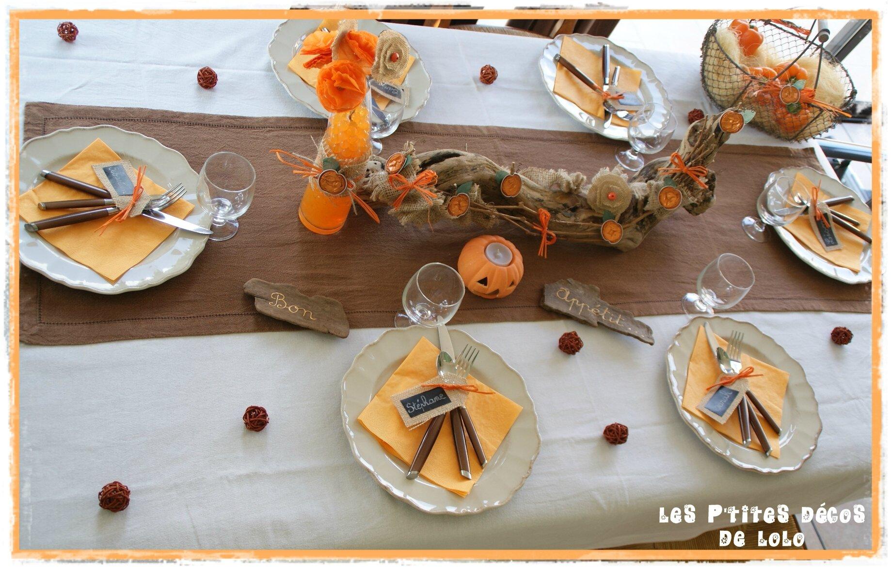 Déco de table Halloween