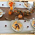Déco de table Halloween