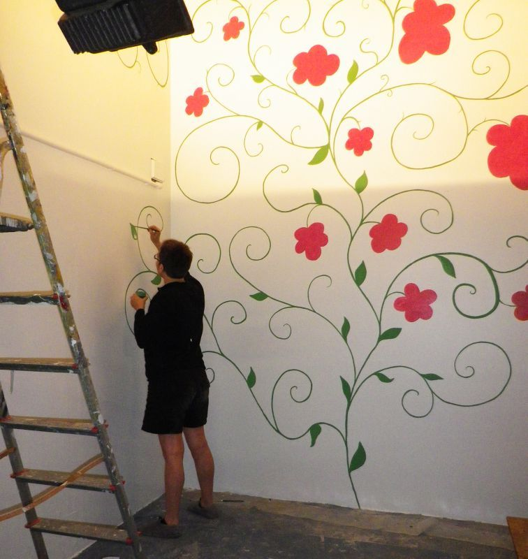 Peinture murale decorative